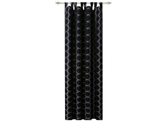 Kombivorhang Celine - Schwarz, MODERN, Textil (140/255cm) - Luca Bessoni