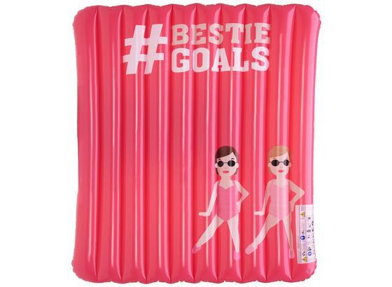 Nafukovací Matrac Hashtag - pink, plast (190/180cm)