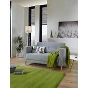 Zweisitzer-Sofa Geneve Webstoff - Hellgrau/Naturfarben, MODERN, Textil (148/81/75cm)