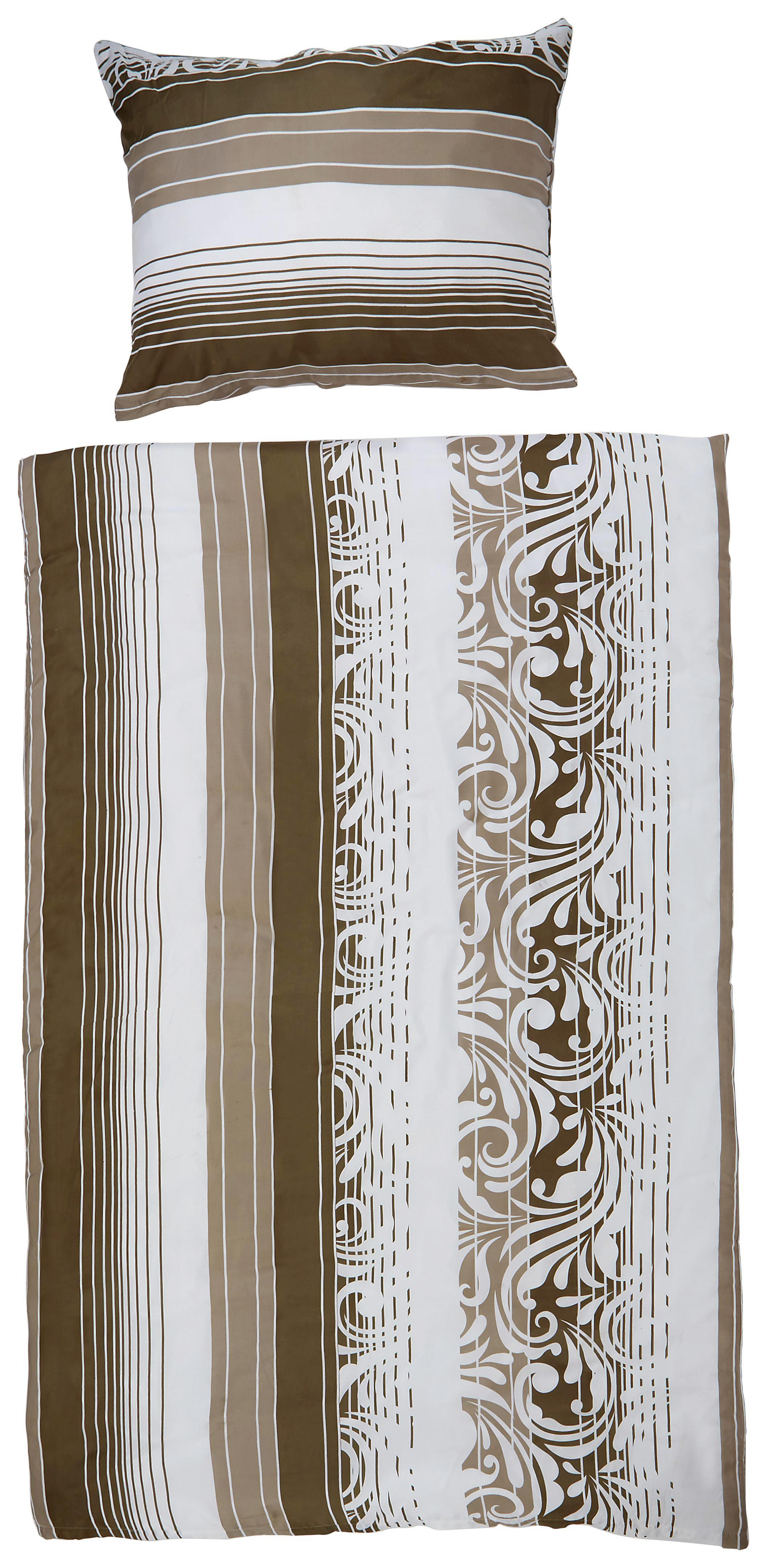 Ágyneműhuzat- Garn. Sabina - bézs/lila, konvencionális, textil - OMBRA