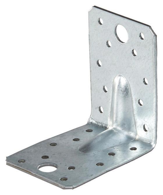 Winkelverbinder Filou 6,5x9 cm - Alufarben, KONVENTIONELL, Metall (6,5/9cm)