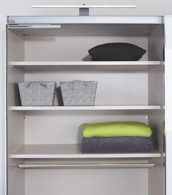 Sada Vkládacích Polic Texline,  2-jitý Set - šedá, Moderní, dřevěný materiál (97/2,2/48cm) - Luca Bessoni