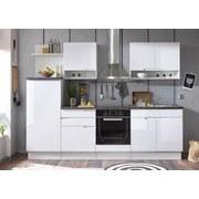 Kuchynská Linka Welcome Spice - čierna/biela, Moderný, drevený materiál (270/204/60cm)