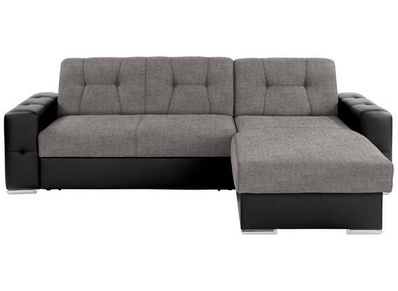 Sedacia Súprava Fulton - čierna/sivá, Basics (260/160cm)