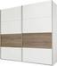Skříň S Posuvnými Dveřmi Bert - bílá/barvy dubu, Romantický / Rustikální, dřevo/dřevěný materiál (225/210/65cm)