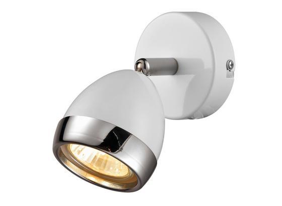 Bodove Svetlo Nantes - biela/chrómová, Štýlový, kov/plast (12,5/14cm) - Mömax modern living