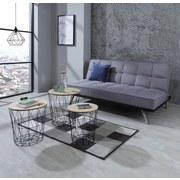 Couchtischset Rund mit Metallgestell Brooklyn - Schwarz/Naturfarben, MODERN, Holzwerkstoff/Metall (45/46cm) - Luca Bessoni