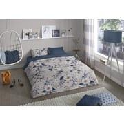 Bettwäsche Denise 140/200cm Weiß/Grau - Petrol/Weiß, Basics, Textil