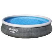 Schwimmbecken Pool Set Robin - Weiß/Grau, KONVENTIONELL, Kunststoff (396/84cm) - Bestway