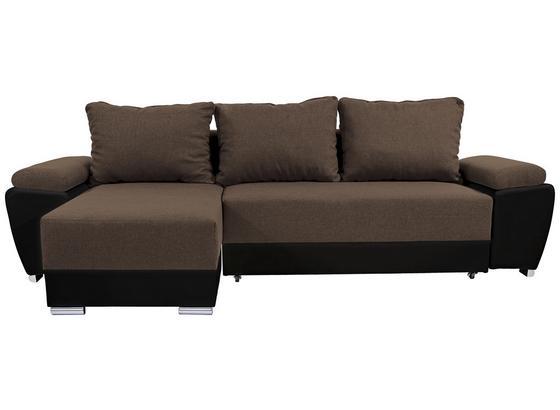 Sedacia Súprava Milano - svetlohnedá/čierna, Basics, koža/textil (270/90/160cm)