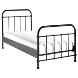 Kinder-/Juniorbett New York 90x200 cm Schwarz - Schwarz, ROMANTIK / LANDHAUS, Metall (90/200cm) - MID.YOU