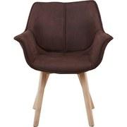 Stolička Diana - prírodné farby/hnedá, Štýlový, drevo/textil (64/81/78cm) - ZANDIARA