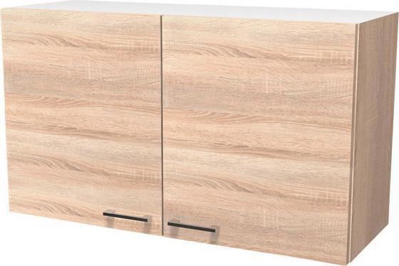 Kuchyňská Horní Skříňka Samoa  H 100 - bílá/barvy dubu, Konvenční, dřevěný materiál (100/54/32cm)