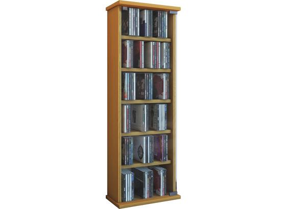 CD-regal Loposa B: 31 cm - Buchefarben, KONVENTIONELL, Glas/Holzwerkstoff (31/91,5/18cm)