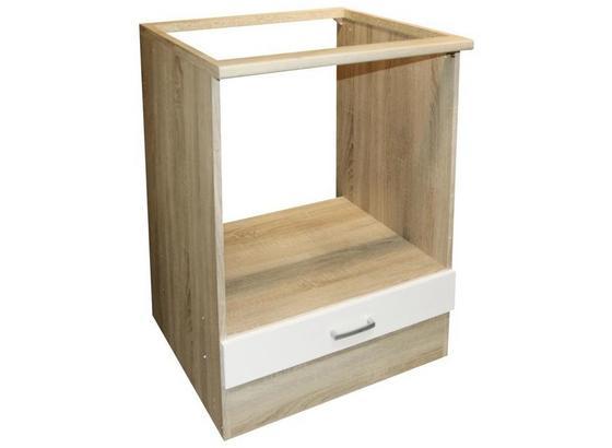 Herdumbauschrank Andy B: 60 cm Eiche Dekor,weiß - Eichefarben/Weiß, Basics, Holzwerkstoff (60/90/60cm) - Xora
