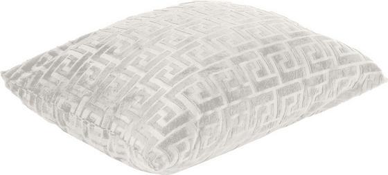 Díszpárna Mäander - fehér, konvencionális, textil (48/48cm) - OMBRA