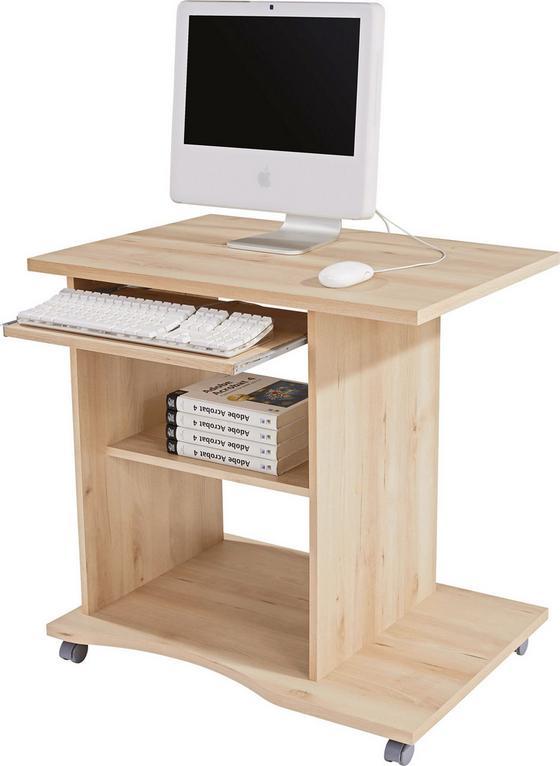 Íróasztal Olin - bükk színű, modern, faanyagok (78/75/50cm)