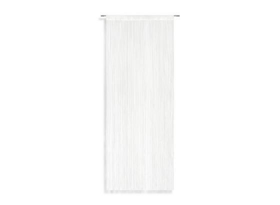 Nitkový Záves Blanc - biela, Konvenčný, textil (90/245cm) - Premium Living
