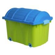 Aufbewahrungsbox Tresure - Blau/Grün, Kunststoff (58/37/40cm) - Homezone
