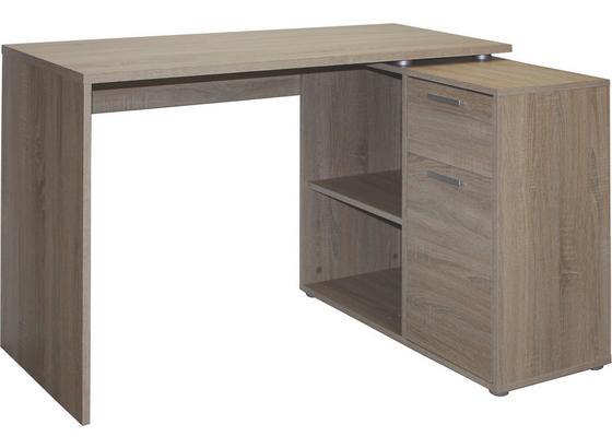 Písací Stôl Lucas *cenový Trhák* - farby dubu, Moderný, kompozitné drevo/plast (117/71/75/80cm)