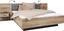 Postelová Sestava Chanton - barvy borovice/tmavě šedá, Lifestyle, kov/kompozitní dřevo (304,6/208,7/58,5cm) - Based