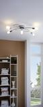 LED-Deckenleuchte Saragossa - Weiß/Nickelfarben, MODERN, Glas/Metall (72,5/41,5/16,5cm)