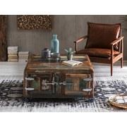 Couchtisch Holz Massiv mit Stauraum Lissabon, Altholz - Multicolor/Braun, Basics, Holz/Metall (90/40/90cm)