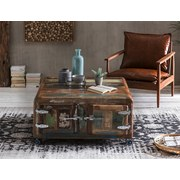 Couchtisch Lissabon B: 90 cm Altholz - Multicolor/Braun, Basics, Holz/Metall (90/40/90cm)
