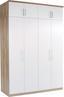 Nadstavec Na Skriňu Ku 4 Dv.skrini Wien - farby dubu/biela, Konvenčný, kompozitné drevo (181/39/54cm)