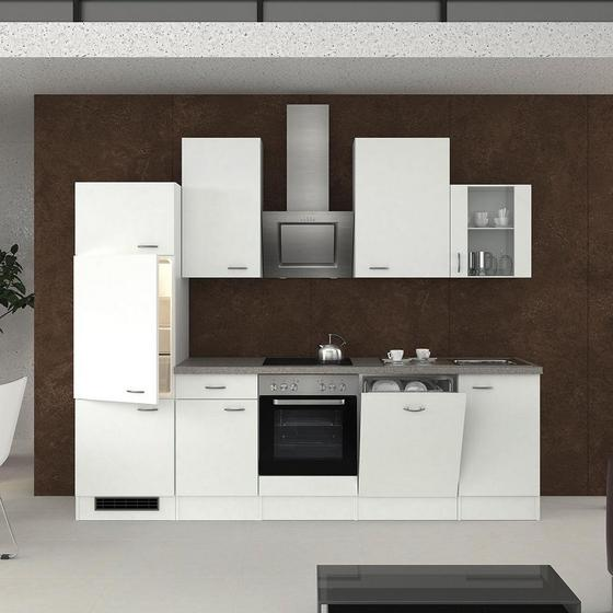 Küchenleerblock Wito 280cm Weiß - Weiß, KONVENTIONELL, Holzwerkstoff (280/60cm)
