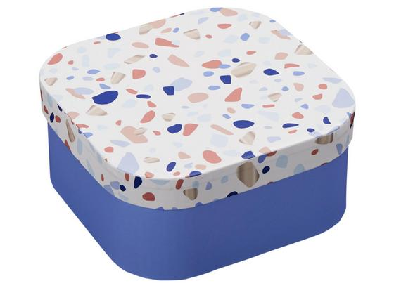 Box S Krytom Terrazzo - modrá/pink, kartón/papier (17,5/17,5/8cm) - Mömax modern living
