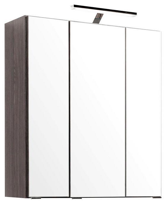 Spiegelschrank Phönix 60 cm Eiche Dekor - Eichefarben, MODERN, Holzwerkstoff (60/69/20cm)