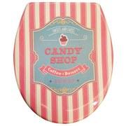 WC-Sitz Duroplast Candy - Beige/Altrosa, MODERN, Kunststoff (37,4/45,3cm)