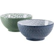 Schüsselset Telde 2-Tlg. Blau,grün - Blau/Grün, Basics, Keramik (20,1cm) - Mäser