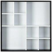 Wandregal Arizona B: 70 cm - Schwarz/Weiß, MODERN, Holzwerkstoff (70/70/13cm)