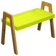 Beistelltisch Scandi - Naturfarben/Grün, MODERN, Holz/Holzwerkstoff (62,5/45/32cm) - Ombra