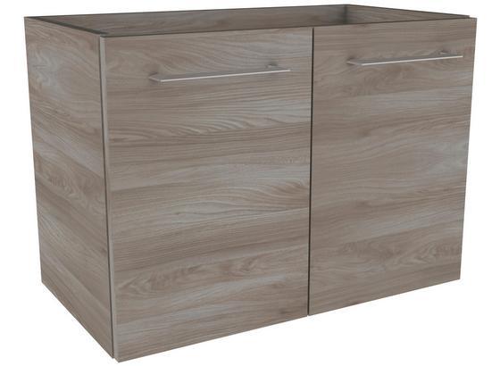 Waschtischunterschrank mit Türdämpfer Lima B: 60cm, Esche - Eschefarben, MODERN, Holzwerkstoff (60/42/35cm) - Fackelmann