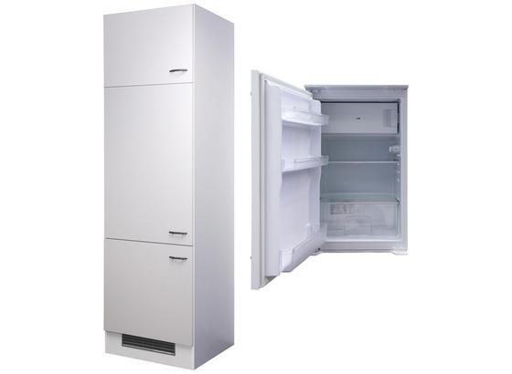 Geräteumbauschrank Wito 60 cm Weiß - Edelstahlfarben/Weiß, MODERN, Holzwerkstoff (60/200/57cm)