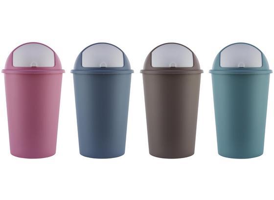 Koš Odpadkový Sofia - modrá/růžová, Moderní, umělá hmota (50l)