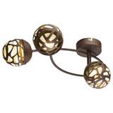 LED-Spotleuchte Esra - Rostfarben/Goldfarben, MODERN, Metall (40/23,5/16,5cm)
