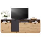 TV-Board Tonale B: 200cm Artisan Eiche, Grau - Eichefarben/Grau, MODERN, Holzwerkstoff (200/68,6/40cm)