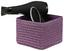 Regalkorb Ingetraud - Violett, ROMANTIK / LANDHAUS, Kunststoff/Textil - James Wood