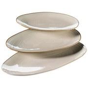 Platte Nottingham 3er-Set - Beige, Basics, Keramik (21,5/35/8cm)