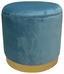 Hocker Velvet - Blau/Goldfarben, MODERN, Holzwerkstoff/Textil (35/35/35cm)