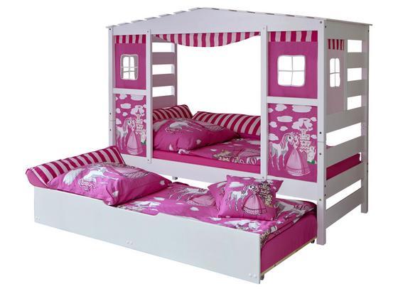 Hausbett Lio 90x200 cm Weiß/Pink - Pink/Weiß, MODERN, Holz (90/200cm) - MID.YOU