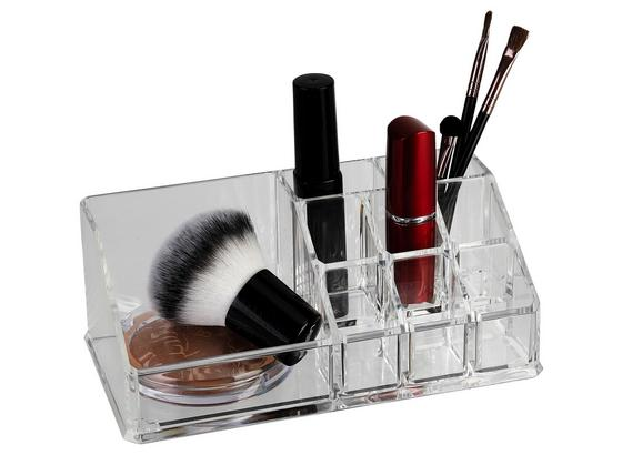 Kosmetik-organizer Eckig - Transparent, MODERN, Kunststoff (17,5/6,5/9,5cm)