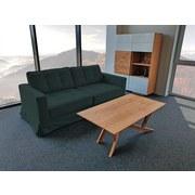 Dreisitzer-Sofa Thomas Polyester - Anthrazit, Basics, Textil (208/90/94cm)