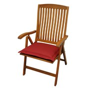 Gartensitzkissenset Premium T: 50 cm Rot - Rot, Basics, Textil (50/8-9/50cm) - Ambia Garden