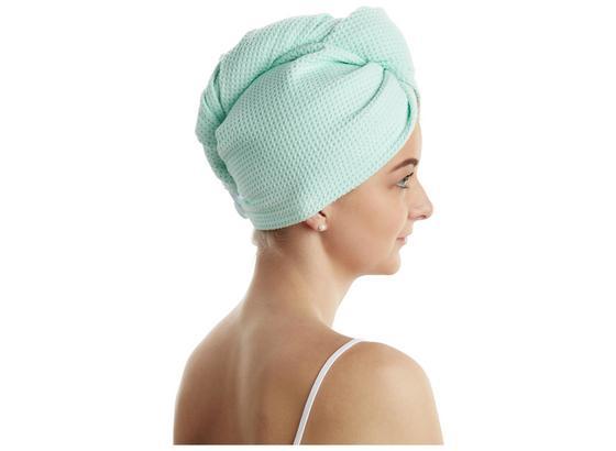 Vlasový Turban Shanty - modrá/sivá, textil (25/63cm)