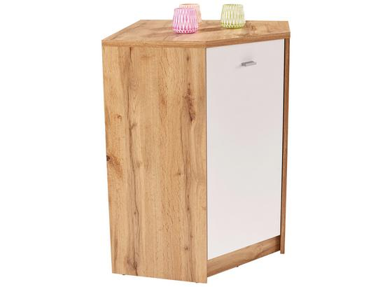 Komoda 4-you New Yuk10 - bílá/barvy dubu, Moderní, kompozitní dřevo (60,9/85,4/60,9cm)
